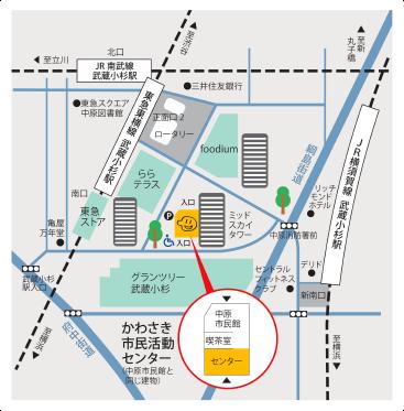 センターへの地図画像