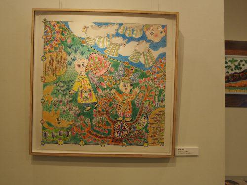 川崎市在住のアーティスト、加藤妙子さんの絵の写真