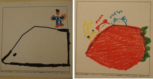 グラフを使って描いた2枚の絵の写真