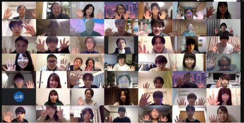 オンライン交流会に参加した学生、団体メンバーの集合写真