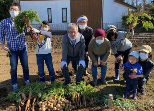 農業体験教室の収穫の様子